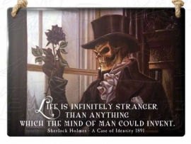Emaille wandbord Alchemy - Life is infinitely stranger