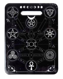 Alchemey of England keramieke snijplank onderzetter - Magische Symbolen - 20 cm hoog