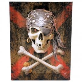 Pirate Skull - Anne stokes wandbord 25 x 19 cm