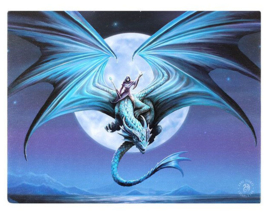 Moonstone Anne Stokes canvas wandbord 25 x 19 cm