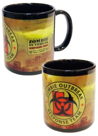 Darkside Gothic horror mok - Zombie Outbreak Response Team - geel