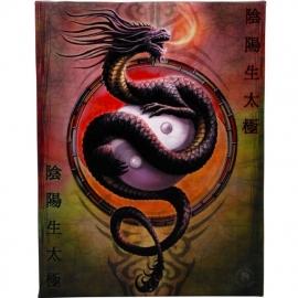 Yin Yang Protector - wandbord van Anne Stokes - 25 x 19 cm