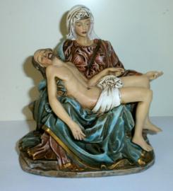 Piëta van Michaelangelo - gekleurd - 14 x 13 cm