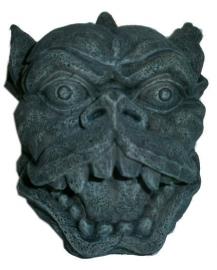 Gargoyle asbak / opbergdoos - 11 cm hoog