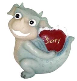 Funny Dragon - Sorry - 6.5 cm hoog
