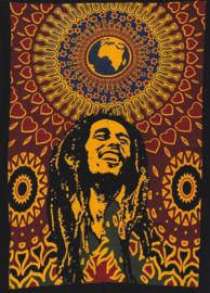 Muurkleed Bob Marley World - 80 x 110 cm