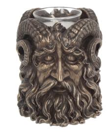 Cernonnis Pan Gehoornde God theelichthouder 9.5 cm