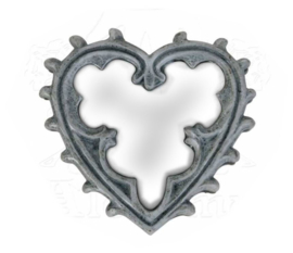 Alchemy of England - Handspiegel Gothic Heart - 8 cm hoog