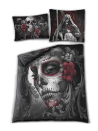Spiral Direct dekbedovertrek - 2 persoons - Skull Roses - 200 x 200 cm