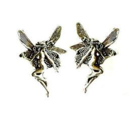 925 zilveren fee stud oorbellen c.a. 1.5 cm