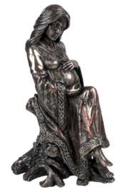 Moeder - Wicca beeld van reeks Triple Goddess - bronskleurig - dessin Lisa Parker - 16 cm hoog