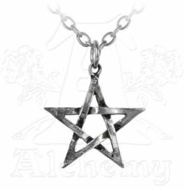 Alchemy Gothic nekketting - Zilveren Pentagram