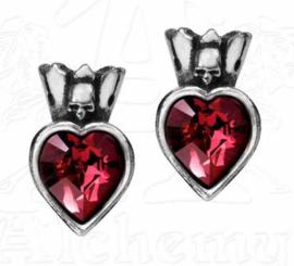 Alchemy Gothic stud oorbellen - Claddagh Heart