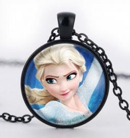 Glazen hanger met ketting Elsa Frozen