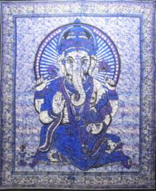 Bedsprei / wandkleed Ganesha blauw 200 x 220 cm