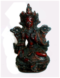 Witte Tara bruine resin 10 cm