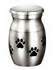 Crematieurn roestvrije staal voor kat of hond - harten - 2.5 cm hoog