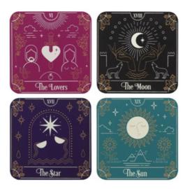 Tarotkaarten onderzetters - 10 x 10 cm