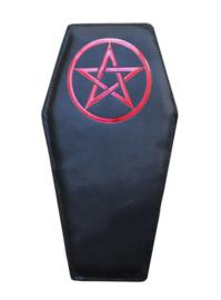 Darkstar Jordash doodskist tas zwarte lak rode pentagram
