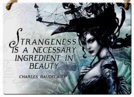 Emaille wandborden alchemy - Strangeness