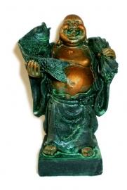 Happy boeddha met vis