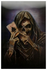 3-D Gothic briefkaart Reaper's Ace - 100 x 150 mm