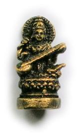 Minibeeld messing Saraswati 3.5 cm hoog