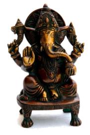 Ganesha - beeld van tweekleurige messing - 15 cm hoog