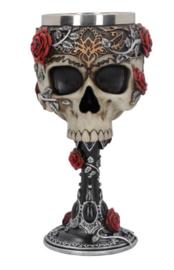 Kelk Gothic Roses Goblet - 18 cm hoog