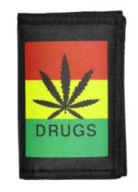 Portemonnee - Cannabisblad - Drugs - 13 x 9 cm