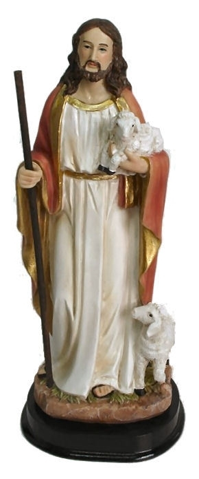 Jezus Christus met lam -  20 cm hoog