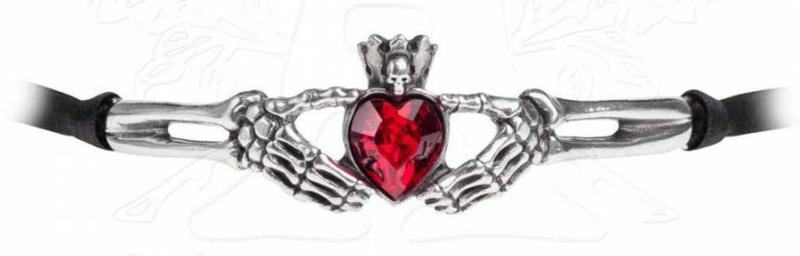 Alchemy Gothic Keltische Vampieren ketting Claddagh by Night -