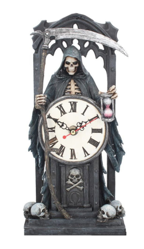 Time Waits For No Man - staande klok - Magere Hein Grim Reaper - 30.5 cm