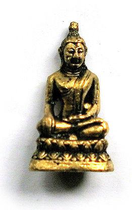 Minibeeld messing Thaise Boeddha 3.3 cm hoog 3