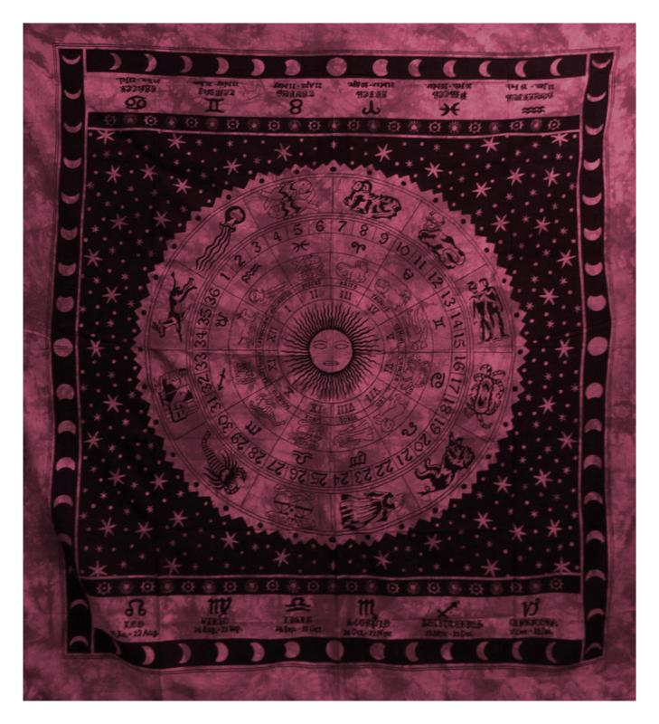 Bedspread Zodiac bordeaux 200 x 230 cm