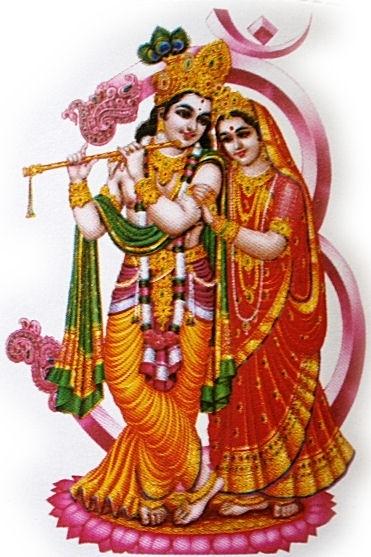 Sticker Krishna Radha 4