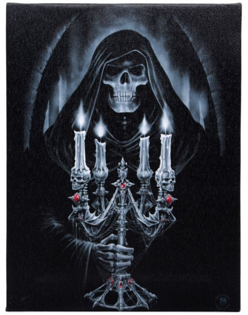 Candelabra - wall plaque by Anne Stokes - 25 x 19 cm