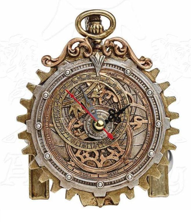 Alchemy of England the Vault - Anguistralobe Steampunk klok - 12 cm hoog