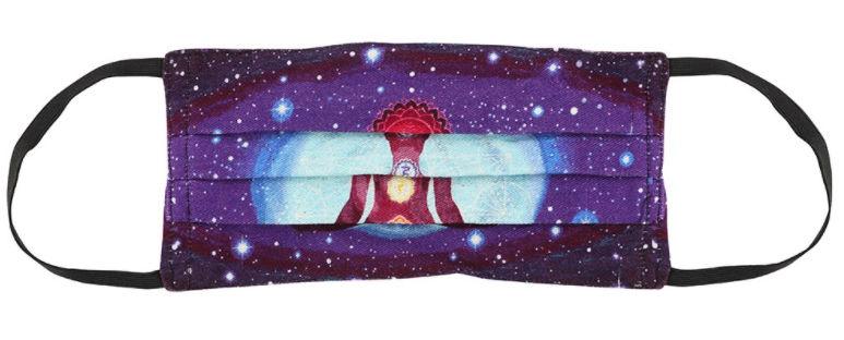 Chakra Meditatie katoenen gezichtsmasker 17 x 30 cm