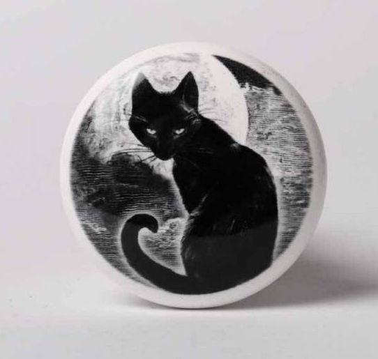 Alchemy England - Flessenstopper - Zwarte Kat - 4 x 4 x 6 cm