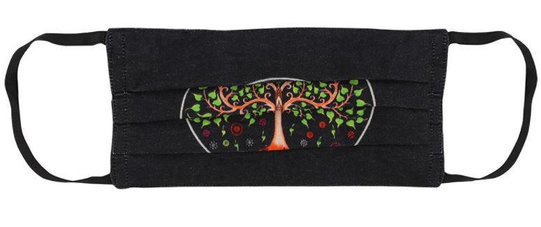 Levensboom katoenen gezichtsmasker 17 x 30 cm
