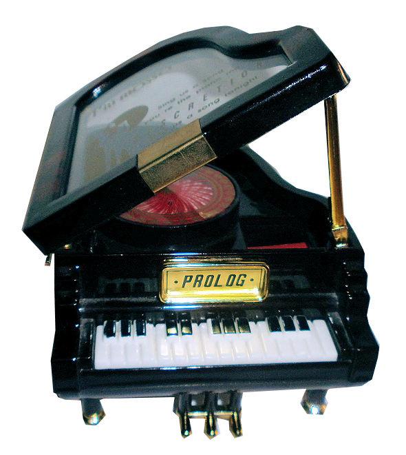 Piano Muziekdoos  - 10 x 11 x 7 cm