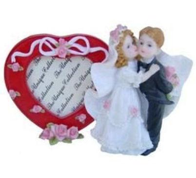 Huwelijk fotolijst met hart 10 x 15 cm dessin 2