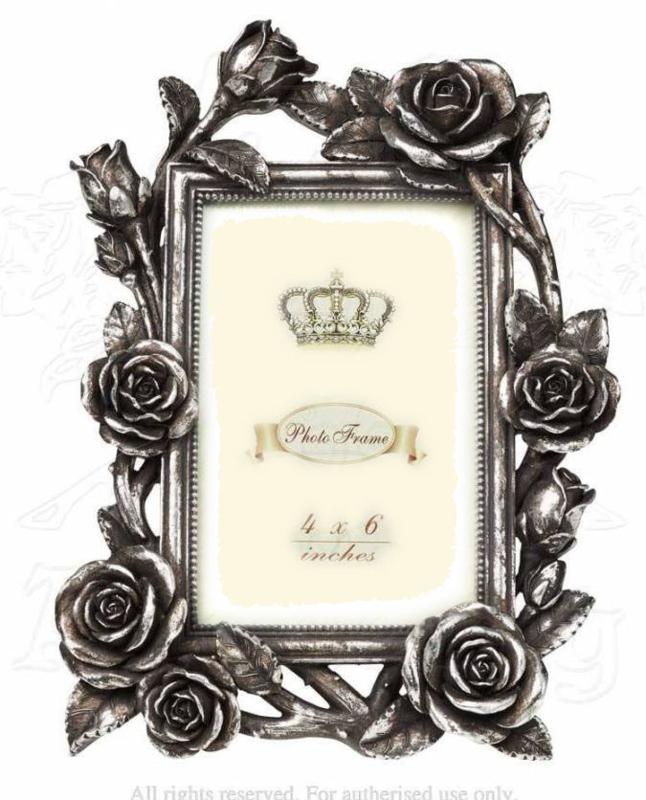 Victoriaanse fotolijst Roos met klimop - 18 x 25 cm