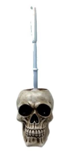 WC-borstelhouder in de vorm van een doodskop
