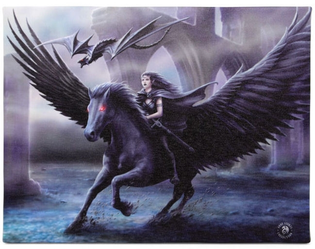 Realm of Darkness - wall plaque by Anne Stokes - 25 x 19 cm