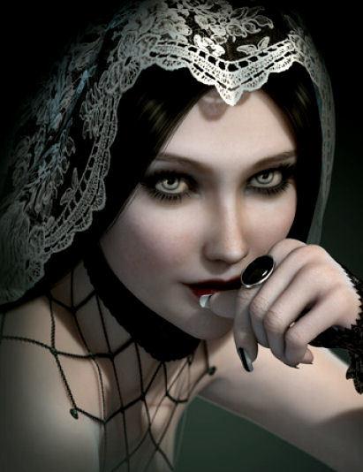 beeldschone gothic victoriaanse meisje met ring en kanten hoofddoek 3.jpg
