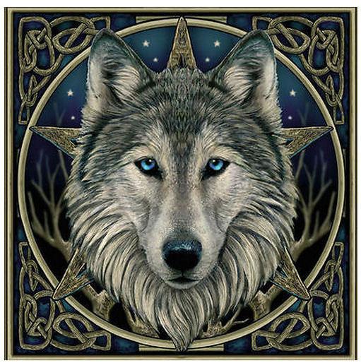 celtic wolf wandbord lisa parker 28 x 28 cm.jpg