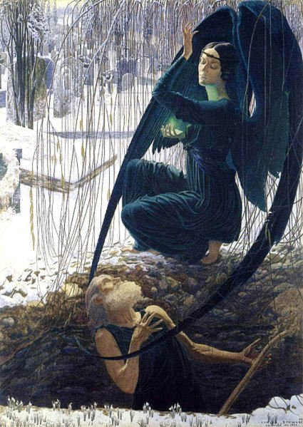death and the gravedigger Carlosa Schwabe.jpg