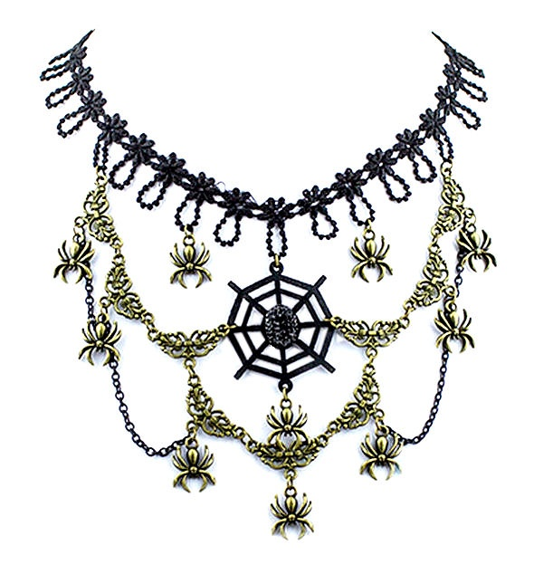 eye of the spider gothic kanten choker met brons accenten.jpg